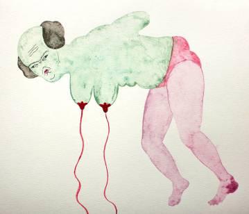 tegninger, gouache, akvareller, figurative, portræt, surrealistiske, kroppe, stemninger, seksualitet, grønne, pink, gouache, papir, erotiske, ekspressionisme, nøgenhed, seksuel, Køb original kunst af den højeste kvalitet. Malerier, tegninger, limited edition kunsttryk & plakater af dygtige kunstnere.