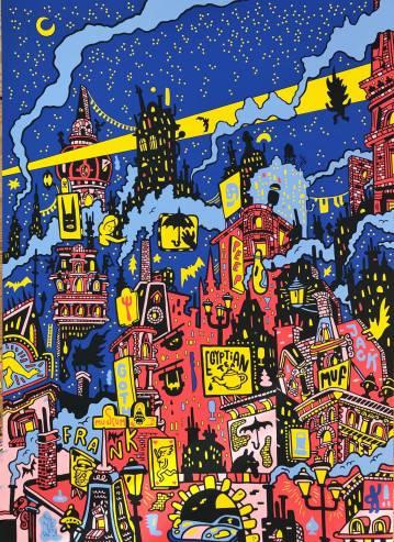 kunsttryk, silketryk, farverige, ekspressionistiske, børnevenlige, figurative, grafiske, illustrative, pop, arkitektur, sorte, blå, pink, røde, gule, akryl, sjove, arkitektoniske, bygninger, forretning, biler, byer, dansk, dekorative, design, interiør, bolig-indretning, nordisk, plakater, tryk, skandinavisk, urban, Køb original kunst og kunstplakater. Malerier, tegninger, limited edition kunsttryk & plakater af dygtige kunstnere.