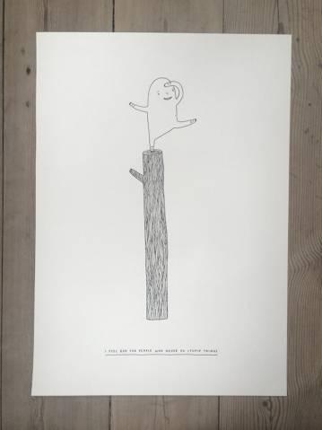 stærke og udtryksfulde kunst illustrationer og tegninger, dygtig dansk illustrator, tegner