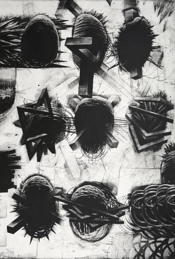 kunsttryk, engraveringer, abstrakte, grafiske, monokrome, bevægelse, mønstre, sorte, grå, hvide, blæk, papir, abstrakte-former, atmosfære, sort-hvide, konceptuel, dansk, dekorative, design, interiør, bolig-indretning, nordisk, skandinavisk, Køb original kunst og kunstplakater. Malerier, tegninger, limited edition kunsttryk & plakater af dygtige kunstnere.