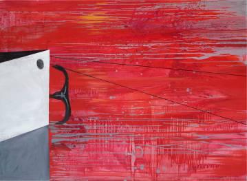 malerier, abstrakte, landskab, natur, havet, sejlads, transportmidler, grå, røde, hvide,  bomuldslærred, olie, både, dansk, dekorative, design, interiør, bolig-indretning, nordisk, sceneri, skibe, fartøjer, vand, Køb original kunst og kunstplakater. Malerier, tegninger, limited edition kunsttryk & plakater af dygtige kunstnere.