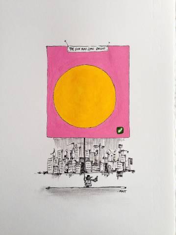 stærke og udtryksfulde kunst illustrationer og tegninger, dygtig dansk illustrator, tegner, faverige $
