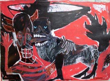 tegninger, gouache-malerier, akvarel-malerier, abstrakte, farverige, ekspressionistiske, illustrative, dyreliv, kroppe, mennesker, vilde-dyr, sorte, røde, akryl, blæk, papir, tusch, abstrakte-former, samtidskunst, hunde, ekspressionisme, bolig-indretning, moderne, moderne-kunst, Køb original kunst og kunstplakater. Malerier, tegninger, limited edition kunsttryk & plakater af dygtige kunstnere.