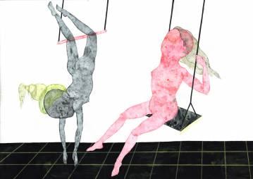 tegninger, gouache, akvareller, figurative, illustrative, portræt, surrealistiske, kroppe, stemninger, bevægelse, seksualitet, sorte, grå, pink, gouache, papir, samtidskunst, københavn, dekorative, design, kvindelig, feminist, interiør, bolig-indretning, moderne, moderne-kunst, nordisk, nøgen, fest, levende, kvinder, Køb original kunst og kunstplakater. Malerier, tegninger, limited edition kunsttryk & plakater af dygtige kunstnere.