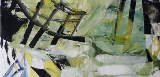 Maleri til salg blå lysgrøn hvid store flotte malerier til salg, talentfulde kunstnere, kunst med passion, perfekt gave ide