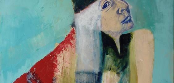 malerier, figurative, portræt, mennesker, røde, turkise, akryl,  bomuldslærred, samtidskunst, københavn, dansk, dekorative, design, ansigter, fantasi, interiør, bolig-indretning, moderne, moderne-kunst, nordisk, skandinavisk, kvinder, Køb original kunst og kunstplakater. Malerier, tegninger, limited edition kunsttryk & plakater af dygtige kunstnere.