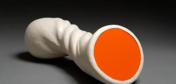 Orange organiske former, flotte skulpturer, interessant kunst skulptur, bedste billedhuggere, moderne online kunst