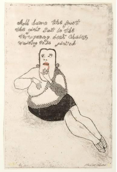 læbestift monika petersersen Graham Greene dame kunst, online gallerier, tegninger, detaljer interiør design