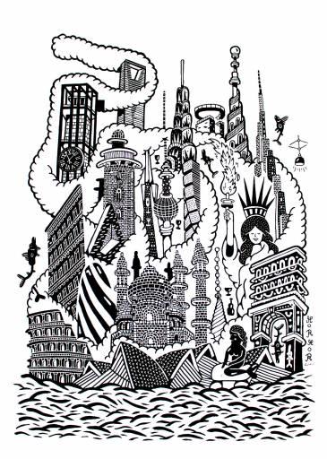 plakater-posters-kunsttryk, giclee-tryk, børnevenlige, geometriske, monokrome, arkitektur, humor, havet, sorte, hvide, blæk, papir, sjove, arkitektoniske, strand, sort-hvide, bygninger, dansk, dekorative, design, fisk, interiør, bolig-indretning, nordisk, plakater, skandinavisk, hav, skibe, vand, Køb original kunst og kunstplakater. Malerier, tegninger, limited edition kunsttryk & plakater af dygtige kunstnere.