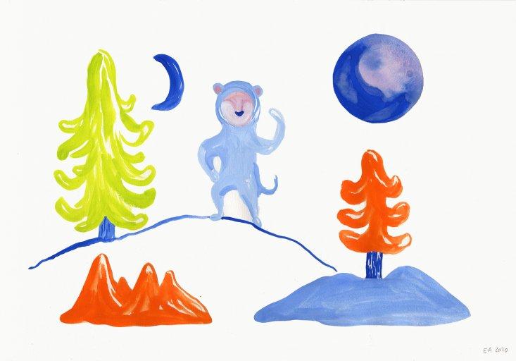 tegninger, gouache-malerier, akvarel-malerier, farverige, børnevenlige, figurative, grafiske, illustrative, pop, dyreliv, botanik, bevægelse, natur, vilde-dyr, blå, grønne, orange, gouache, blæk, papir, dansk, dekorative, design, interiør, bolig-indretning, moderne, moderne-kunst, nordisk, planter, plakater, flotte, skandinavisk, Køb original kunst og kunstplakater. Malerier, tegninger, limited edition kunsttryk & plakater af dygtige kunstnere.