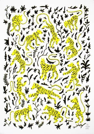 kunsttryk, silketryk, dyr, børnevenlige, grafiske, botanik, humor, mønstre, vilde-dyr, sorte, hvide, gule, blæk, papir, sjove, katte, blomster, vilde-dyr, Køb original kunst af den højeste kvalitet. Malerier, tegninger, limited edition kunsttryk & plakater af dygtige kunstnere.