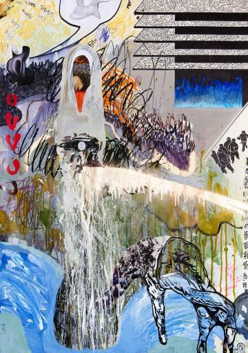 malerier, farverige, ekspressionistiske, illustrative, stemninger, bevægelse, natur, sorte, blå, grønne, gule, artliner, papir, tusch, olie, blyant, abstrakte-former, atmosfære, ekspressionisme, kærlighed, romantiske, vand, Køb original kunst af den højeste kvalitet. Malerier, tegninger, limited edition kunsttryk & plakater af dygtige kunstnere.
