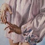 malerier, figurative, portræt, kroppe, mennesker, seksualitet, tekstiler, beige, blå, pastel, pink, hvide,  bomuldslærred, olie, smukke, beklædning, samtidskunst, dekorative, erotiske, kvindelig, feminist, blomster, interiør, bolig-indretning, moderne, moderne-kunst, kvinder, Køb original kunst og kunstplakater. Malerier, tegninger, limited edition kunsttryk & plakater af dygtige kunstnere.