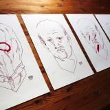 kunsttryk, tegninger, gicleé, grafiske, illustrative, portræt, surrealistiske, tegneserier, stemninger, mennesker, seksualitet, røde, hvide, blæk, papir, tusch, ansigter, mænd, skitse, Køb original kunst og kunstplakater. Malerier, tegninger, limited edition kunsttryk & plakater af dygtige kunstnere.