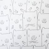 BEAR FAMILY . En original illustration af My Buemann. Online kunst-galleri ARTUNIKA - Malerier, Illustrationer, Tegninger og Fotokunst