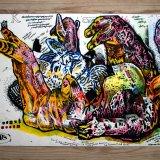 plakater-posters-kunsttryk, giclee-tryk, farverige, børnevenlige, figurative, grafiske, illustrative, dyreliv, tegneserier, børn, husdyr, kæledyr, vilde-dyr, orange, lillae, violette, hvide, gule, blæk, papir, katte, samtidskunst, sød, dansk, dekorative, design, interiør, bolig-indretning, moderne, moderne-kunst, nordisk, plakater, tryk, skandinavisk, Køb original kunst og kunstplakater. Malerier, tegninger, limited edition kunsttryk & plakater af dygtige kunstnere.
