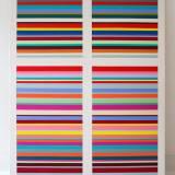 malerier, abstrakte, farverige, geometriske, grafiske, minimalistiske, arkitektur, mønstre, blå, røde, hvide, gule, akryl,  bomuldslærred, abstrakte-former, terninger, kubisme, Køb original kunst og kunstplakater. Malerier, tegninger, limited edition kunsttryk & plakater af dygtige kunstnere.