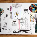 tegninger, collager, abstrakte, farverige, figurative, geometriske, landskab, portræt, arkitektur, botanik, natur, sorte, blå, røde, artliner, akvarel, abstrakte-former, bygninger, sceneri, levende, Køb original kunst og kunstplakater. Malerier, tegninger, limited edition kunsttryk & plakater af dygtige kunstnere.