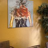 malerier, abstrakte, æstetiske, ekspressionistiske, portræt, kroppe, bevægelse, mennesker, sorte, grå, orange, akryl,  bomuldslærred, abstrakte-former, samtidskunst, dekorative, ekspressionisme, interiør, bolig-indretning, kvinder, Køb original kunst og kunstplakater. Malerier, tegninger, limited edition kunsttryk & plakater af dygtige kunstnere.
