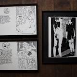 tegninger, grafiske, illustrative, monokrome, portræt, kroppe, tegneserier, seksualitet, sorte, hvide, artliner, papir, tusch, erotiske, mænd, nøgen, seksuel, Køb original kunst og kunstplakater. Malerier, tegninger, limited edition kunsttryk & plakater af dygtige kunstnere.