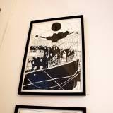 usa rejse båd mennesker stærke og udtryksfulde kunst illustrationer og tegninger, dygtig dansk illustrator, tegner, faverige