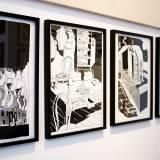 tegninger, geometriske, surrealistiske, arkitektur, sorte, hvide, artliner, papir, tusch, tid, Køb original kunst og kunstplakater. Malerier, tegninger, limited edition kunsttryk & plakater af dygtige kunstnere.