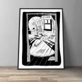 kunsttryk, gliceé, figurative, grafiske, illustrative, monokrome, arkitektur, hverdagsliv, sorte, hvide, blæk, papir, sort-hvide, samtidskunst, københavn, dansk, dekorative, design, interiør, bolig-indretning, moderne, moderne-kunst, nordisk, skandinavisk, tid, Køb original kunst og kunstplakater. Malerier, tegninger, limited edition kunsttryk & plakater af dygtige kunstnere.