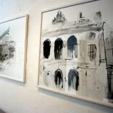 bygninger teater tegninger, Sort hvid tegning danske gallerier stærk god kunst, bedste danske kunstnere