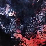Farverigt Abstrakt rødt sort gråt stort originalt maleri til din bolig fantastisk indretning