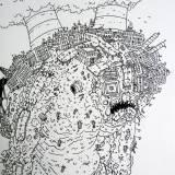 kraftværk, skorsten, illustrationer og tegninger, kunst, kunstgalleri, galleri, sjov tegning, street art, pop kultur, inspiration,