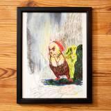 tegninger, dyr, børnevenlige, illustrative, tegneserier, humor, kæledyr, vilde-dyr, grønne, grå, røde, gule, kridt, papir, tusch, blyant, akvarel, sjove, fugle, dekorative, interiør, bolig-indretning, skitse, Køb original kunst og kunstplakater. Malerier, tegninger, limited edition kunsttryk & plakater af dygtige kunstnere.