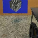 MAGNETIC CUBE linocut_printing process