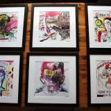 malerier illustrationer online galleri moderne kunst bolig indretning design grafik hjem gallerie