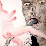 tegninger, gouache, akvareller, figurative, portræt, surrealistiske, kroppe, stemninger, seksualitet, sorte, grå, pink, gouache, papir, samtidskunst, dekorative, erotiske, ekspressionisme, kvindelig, interiør, bolig-indretning, mænd, moderne, moderne-kunst, nøgen, seksuel, kvinder, Køb original kunst og kunstplakater. Malerier, tegninger, limited edition kunsttryk & plakater af dygtige kunstnere.