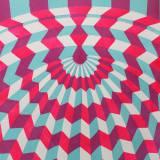 MIHRAB I linocut_ pink/blue