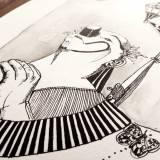 tegninger, æstetiske, ekspressionistiske, illustrative, monokrome, stemninger, sorte, grå, hvide, blæk, papir, kalligrafi, samtidskunst, dansk, dekorative, design, interiør, bolig-indretning, moderne, moderne-kunst, nordisk, skandinavisk, Køb original kunst og kunstplakater. Malerier, tegninger, limited edition kunsttryk & plakater af dygtige kunstnere.