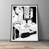 kunsttryk, gliceé, figurative, grafiske, illustrative, monokrome, tegneserier, hverdagsliv, sorte, hvide, blæk, papir, sort-hvide, samtidskunst, dansk, dekorative, design, moderne, moderne-kunst, nordisk, plakater, tryk, skandinavisk, hav, tid, træer, Køb original kunst og kunstplakater. Malerier, tegninger, limited edition kunsttryk & plakater af dygtige kunstnere.