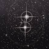 TWIN STARS linocut_black