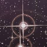 TWIN STARS linocut_detail