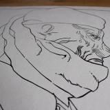tegninger, grafiske, illustrative, monokrome, portræt, tegneserier, hverdagsliv, stemninger, mennesker, sorte, hvide, blæk, papir, tusch, sort-hvide, mænd, Køb original kunst og kunstplakater. Malerier, tegninger, limited edition kunsttryk & plakater af dygtige kunstnere.