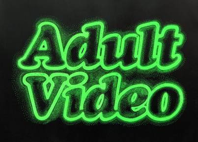 ADULT VIDEO linocut_ Marta Banaszak