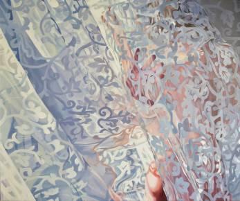 malerier, æstetiske, figurative, kroppe, botanik, mønstre, seksualitet, blå, grå, sølv, hvide,  bomuldslærred, olie, erotiske, blomster, naturlig, naturealistiske, nøgenhed, seksuel, Køb original kunst af den højeste kvalitet. Malerier, tegninger, limited edition kunsttryk & plakater af dygtige kunstnere.
