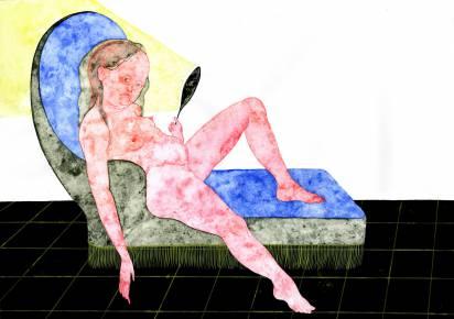 tegninger, gouache, akvareller, figurative, illustrative, portræt, kroppe, stemninger, mennesker, seksualitet, sorte, blå, pink, gule, gouache, papir, samtidskunst, københavn, dansk, dekorative, kvindelig, feminist, interiør, bolig-indretning, moderne, moderne-kunst, nordisk, nøgen, levende, kvinder, Køb original kunst og kunstplakater. Malerier, tegninger, limited edition kunsttryk & plakater af dygtige kunstnere.