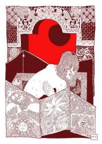kunsttryk, gliceé, figurative, grafiske, illustrative, portræt, kroppe, tegneserier, mønstre, seksualitet, brune, røde, hvide, papir, comics, nøgenhed, skitser, Køb original kunst af den højeste kvalitet. Malerier, tegninger, limited edition kunsttryk & plakater af dygtige kunstnere.