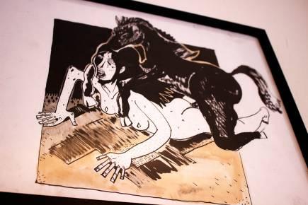 sex erotik hest kvinde nøgne kneppet bagfra stærke og udtryksfulde kunst illustrationer og tegninger, dygtig dansk illustrator, tegner, faverige tærke og udtryksfulde kunst illustrationer og tegninger, dygtig dansk illustrator, tegner