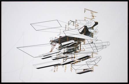 arkitektoniske og grafiske limited kunst print, dygtig dansk illustrator