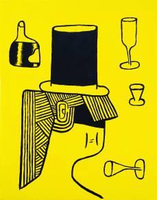 malerier, figurative, illustrative, pop, portræt, humor, mennesker, sorte, gule, akryl,  bomuldslærred, andre-medier, abstrakte-former, sjove, samtidskunst, dansk, dekorative, design, ansigter, interiør, bolig-indretning, moderne, moderne-kunst, nordisk, pop-art, skandinavisk, Køb original kunst og kunstplakater. Malerier, tegninger, limited edition kunsttryk & plakater af dygtige kunstnere.