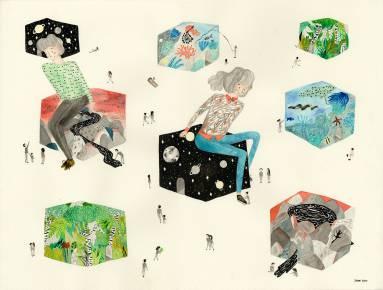 illustrationer perfekt til hjemmet bolig indretning, original kunst, gave ide, gallerier, dygtige kunstnere, tegnere