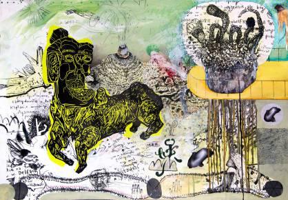 tegninger, malerier, collager, farverige, ekspressionistiske, illustrative, stemninger, bevægelse, natur, vilde-dyr, sorte, brune, grønne, gule, artliner, papir, tusch, olie, andre-medier, samtidskunst, dansk, design, hunde, ekspressionisme, ansigter, interiør, bolig-indretning, moderne, moderne-kunst, nordisk, skandinavisk, levende, Køb original kunst og kunstplakater. Malerier, tegninger, limited edition kunsttryk & plakater af dygtige kunstnere.