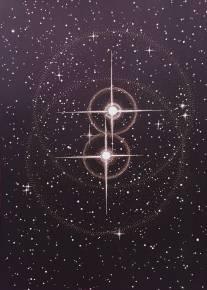 TWIN STARS linocut_Marta Banaszak